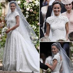 Fiz um longo Live, em que comentei os detalhes do casamento da Pippa e expliquei por que ~eu~ não gostei tanto do vestido dela. Sim, sim, quem tem que gostar do vestido é a noiva! E ela estava radiante! Mas vou colocar aqui as minhas observações para quem quiser saber o motivo. E ninguém tem que concordar, ok? Cada um pode ter sua opinião e tá tudo certo!  A imagem geral eu achei bem bonita! A noiva é linda, o vestido valorizou seu corpo (que cintura!) e estava perfeito para um casamento de…