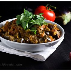 Indian Eggplant Curry Délicious I have added chickpeas and served with brown rice