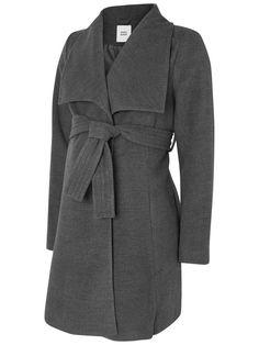 Grey wool maternity jacket. Ideal autumn wear.