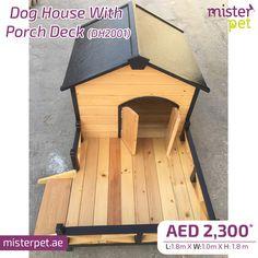 Dog House With Porch Deck   MisterPet.ae 🐶 Order Online Now 🖥>>https://goo.gl/Qa3cwU  #MisterPet #MisterPetUAE #MisterPetDubai