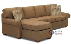 Seattle Chaise Sectional Classic Sleeper. Traditional styling with a contemporary touch. Customizable.