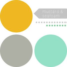 {Color Inspo} Seafoam & Mustard with Splashes of Grey