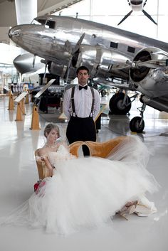 Wedding in the Aviation Museum by EvergreenAviation, via Flickr