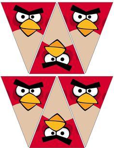 Angry Birds Red Festone da Stampare - Idee per Feste. Visita il nostro sito www.crealafesta.it e scopri tutti i Kit per la tua Festa a Tema.