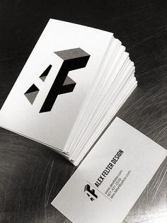 Unique Business Card, Alex Felter @abievz #BusinessCards #Design (http://www.pinterest.com/aldenchong/)