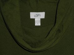 ANN TAYLOR LOFT Green Cowl Neck Sweater Short Sleeve Women Size S Small #AnnTaylorLOFT #CowlNeck