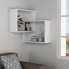 The Warner Wall Shelf is a beautiful piece that is perfect for any corner needing a boost in utility and fashion. This precisely crafted wall shelf measures 23.5 inches in width, 26.77 inches in height, and a perfected 7.87 inches of depth. Combined with the unmistakable quality of the melamine coated engineered wood t
