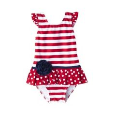 Circo® Infant Toddler Girls Stripe 1-Piece Swimsuit Quick Information