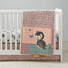 Shop Shy Little Kitten Crib Bedding Set). Instantly outfit your entire crib with our Shy Little Kitten Crib Bedding Set. It includes a baby quilt, crib fitted sheet and crib skirt all in one easy-to-buy set. Girl Crib Bedding Sets, Best Bedding Sets, Baby Bedding, Baby Kittens, Little Kittens, Best Baby Cribs, Modern Crib, Wishes For Baby, Little Golden Books