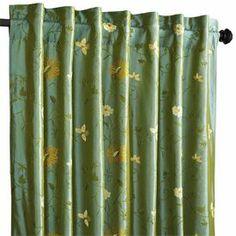 """Celadon Floral Curtain - 84"""""""