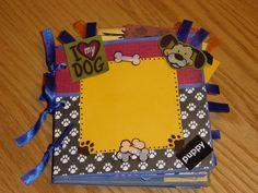 Dog mini Paper Bag Album. $14.95, via Etsy.