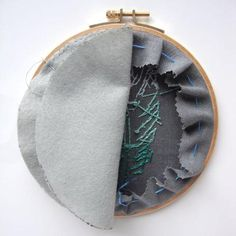 """How do you finish the back of an embroidery hoop?""  I get asked this question quite often.  And understandably so; finishing a hoop can be a bit bewildering, u"