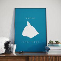 Dog French Bulldog Custom Name Print. Poster. by JacksPosters