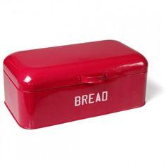 Diner Enamel Bread Bin (Red)