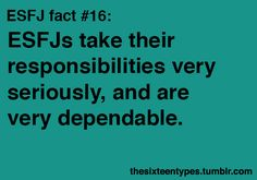 i definitely take responsibility seriously, and like to think of myself as dependable