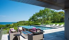 Attractive Infinity Pool, Pool Terrace, Patio, Fire Pit   Landscape Architecture By  Stephen Stimson