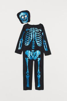 H&M - Skeleton Costume - Black