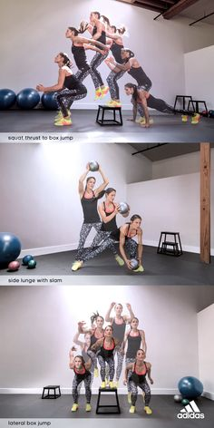 Challenge yourself, challenge your friends with these super-charged plyo moves. Add one of the sequences to a regular gym sesh or combine all 3 and repeat for a full workout. Up the ante by rocking the Performer Low Rise tights and climachill rocket boost shoes. Products only available in the USA.