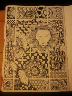 Zentangle art journal page. Miranda Bosch - Thurlings