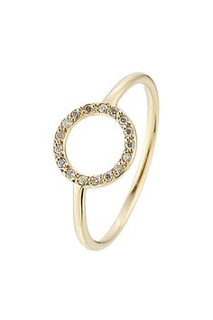 Dotted with white diamonds, this delicate ring from Ileana Makri is made from luxurious 18kt yellow gold. Slip it on to add a delicate finish to any look #Stylebop