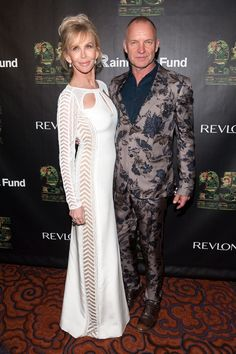 Sting Trudie Styler Photos: Concert for the Rainforest Fund Afterparty