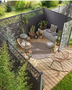 66 super garden ideas diy landscaping thoughts ideas page 19 Back Garden Design, Garden Design Plans, Backyard Garden Design, Patio Design, Small Backyard Landscaping, Backyard Patio, Landscaping Ideas, Outdoor Rooms, Outdoor Decor
