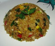 Burnt Garlic Coriander Fried Rice
