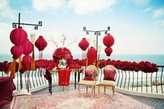 Chinese tea ceremony set up Chinese Wedding Tea Ceremony, Chinese Wedding Decor, Chinese Theme, Chinese New Year Decorations, Wedding Altars, Chinese Style, Traditional Chinese, Ceremony Backdrop, Ceremony Decorations
