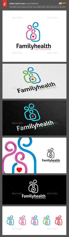 Family Health Logo — AI Illustrator #love #talking • Available here → https://graphicriver.net/item/family-health-logo/14459571?ref=pxcr