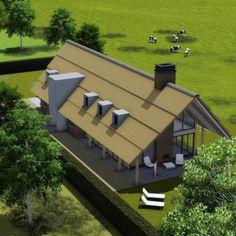 lk02 Barn House Conversion, Backyard House, New Homes, Farmhouse, House Design, Cabin, Villa, Land, Mansions