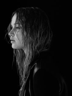 Black and White Photography Portrait of Jennifer Lawrence By Mark Segal