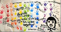 class mural for Martin Luther King, Jr. Day