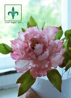 Peony Cake, Fondant Flower Cake, Fondant Rose, Fondant Baby, Fondant Cakes, Sugar Paste Flowers, Wafer Paper Flowers, Ceramic Flowers, Clay Flowers