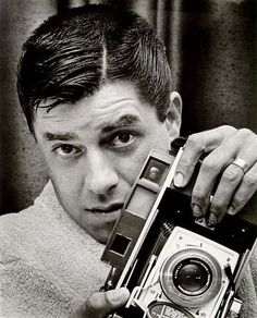 """""""Hey LADY!!""""    Today's über-cool, über-talented celebrity with an über-cool Polaroid camera: JERRY LEWIS"""