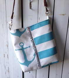 Anchors Away Crossbody Purse by SelbyLaneShop on Etsy, $50.00