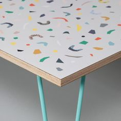 Terrazzo Table (Grey) by humblesticks  #environment_friendly #handcrafted