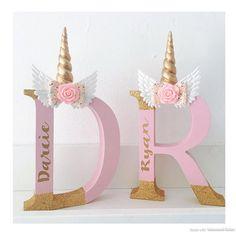 Freestanding personalised Unicorn letter unicorn bedroom