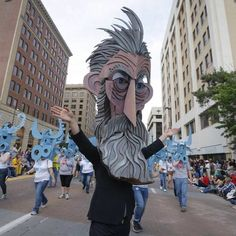 John Brown in Wichita #waynewhite #harvesterarts #wichitasundownparade