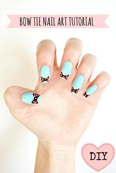 DIY easy bow nail art DIY Nails Art