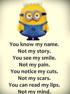 Minion name pain story mind. See my Despicable Me Minions pins Minion name pain story mind. See my Despicable Me Minions pins Funny Minion Memes, Minions Funny Images, Minion Pictures, Minions Love, My Minion, Minions Quotes, Minion Banana, Purple Minions, Memes Humor