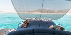 Have a cool siesta on the water on the Alea MotorYacht before continuing your cruise of Santorini