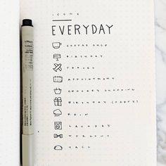 Bullet journal icon ideas. | @lemonsandlines_