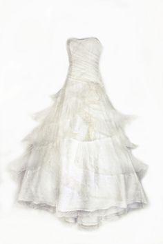 """Felicita Design, Wedding Dress """"Pelisa"""", Silk 100% , Hochzeit Brautmode, Brautkleid, Federleichtes Hochzeitskleid    www.felicita.de"""