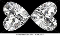 Heart diamond butterfly. 3D illustration. 3D CG. High resolution. Format 16:9.