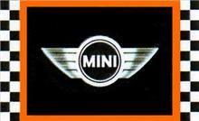 Mini  Vinyl Sign Banner Flag UK British Cooper Automotive Wall Garage Gift Décor