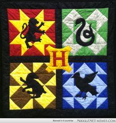 Harry Potter inspired quilt