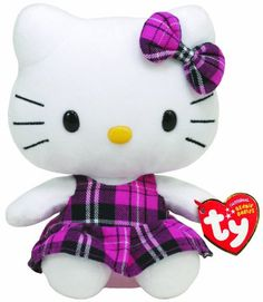 dc4902360 Ty Beanie Baby Hello Kitty Tartan - best stocking stuffers under $10 for  three year old