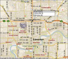 TOWN OF WHITECOURT MAP EDMONTON