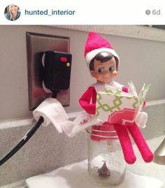 Elf on a shelf toilet