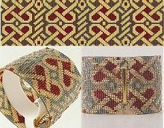 Loom Bead Pattern - Celtic Hearts Cuff Bracelet   BeadholdenDesigns - Jewelry on ArtFire